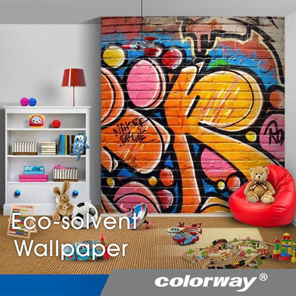 Papel mural pintado para inyecci n de tinta colorway for Papel mural tipo madera